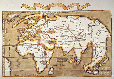Waldseemuller: World Map Print by Granger