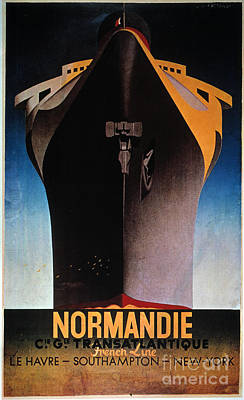 Steamship Normandie, C1935 Print by Granger