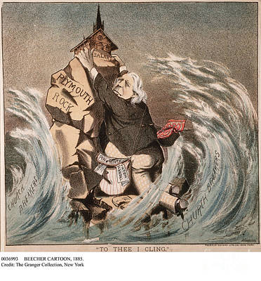 Political Acts Painting - Beecher Cartoon, 1885 by Granger