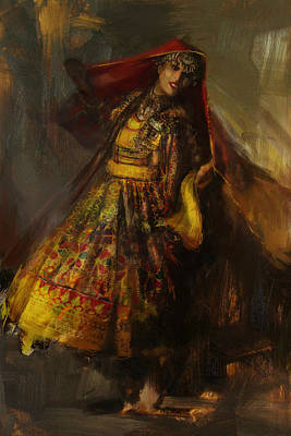 Hijab Art Painting - 008 Pakhtun by Mahnoor Shah