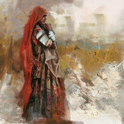 Of Hijabs Painting - 007 Sindh by Mahnoor Shah