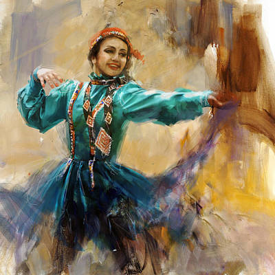 South East Asian Painting - 011 Pakhtun by Mahnoor Shah
