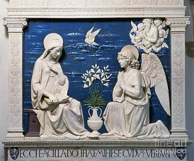 Ceramic Glazes Painting - Della Robbia: Annunciation by Granger