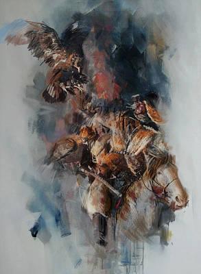 012 Kazakhstan Culture Print by Maryam Mughal