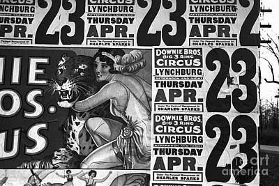 Depression Painting - Circus Advertisement, 1936 by Granger