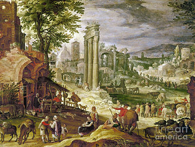 Roman Forum, 16th Century Print by Granger