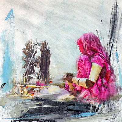 Of Hijabs Painting - 024 Sindh by Maryam Mughal