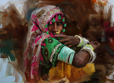 Of Hijabs Painting - 029 Sindh by Maryam Mughal