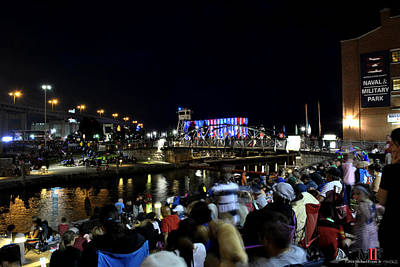 Night Photograph - 03 Canalside 4th Of July 2016 by Michael Frank Jr