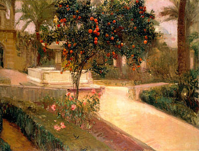 Seville Painting - Garden Alcazar Seville by Joaquin Sorolla