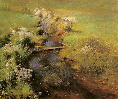 Asters Painting - Wild Asters by Dennis Miller Bunker