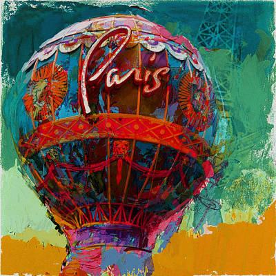 075 The Iconic Paris Casino Balloon Print by Maryam Mughal