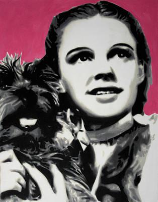 Judy Garland Painting - - Dorothy - by Luis Ludzska