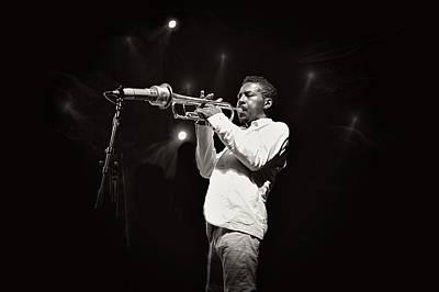 Live Jazz Quartet Photograph -  Roy Hargrove  by Jean Francois Gil