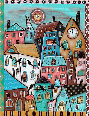 Blackbird Painting - 10 O'clock by Karla Gerard