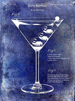 Martini Photograph - 1897 Dirty Martini Patent by Jon Neidert