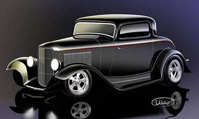 1932 Ford Coupe Print by Alexandre Uchino