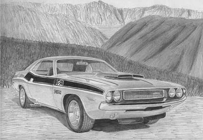 1970 Dodge Challenger Ta Classic Car Art Print Print by Stephen Rooks