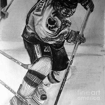 Youth Hockey Drawing - #20franzoni  by Gary Reising