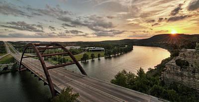 Austin Photograph - 360 Bridge Sunset by Todd Aaron