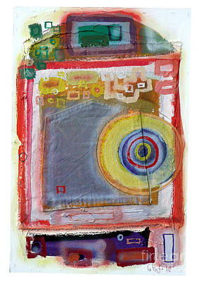 Collagraph Painting - 5 Out Of 6 Experimental Boards. by Timothy Beighton