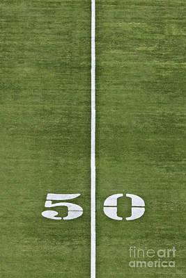Turf Photograph - 50 Yard Line by Jeremy Woodhouse