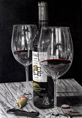 Virginia Wine Painting - 91 Points by Brien Cole