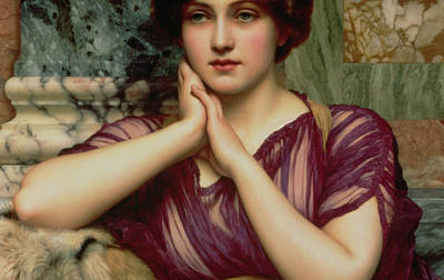 Columns Painting - A Classical Beauty by John William Godward