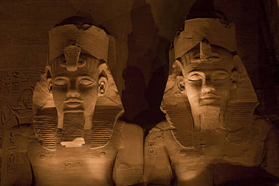 A Close View Of Ramses IIs Temple Print by Taylor S. Kennedy