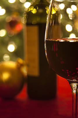 Red Wine Photograph - A Drink By The Tree by Andrew Soundarajan