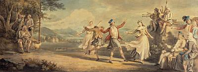 David Allan Painting - A Highland Dance by David Allan