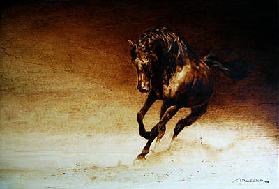 Pyrography - A Horse... Off Course by Dino Muradian