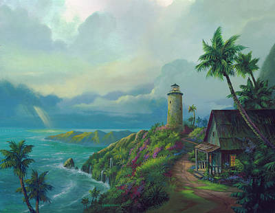 Lighthouse Painting - A Small Patch Of Heaven by Michael Humphries