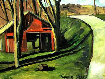 A Spring Noon Near Weasau Creek Plein Air Print by Charlie Spear