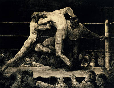 A Stag At Sharkey's Print by George Bellows