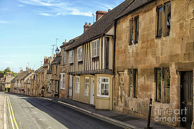 A Street In The English Cotswolds Print by Patricia Hofmeester