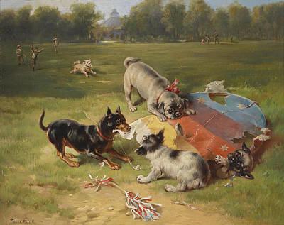 Painting - A Toy Is Found by Frank Paton