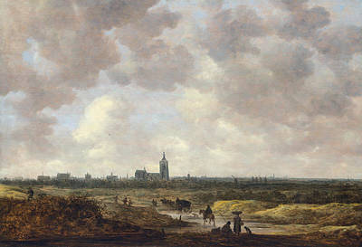 Outlook Painting - A View Of The Hague From The Northwest by Jan van Goyen
