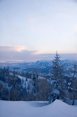 Winter Fun Photograph - A View Out Over The Mountains Of Utah by Taylor S. Kennedy