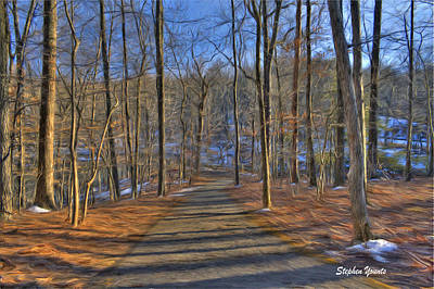 A Winter's Walk Print by Stephen Younts