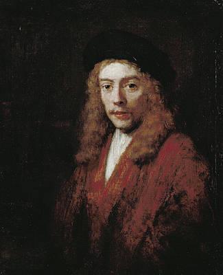 Men Painting - A Young Man, Perhaps The Artist's Son Titus by Rembrandt van Rijn