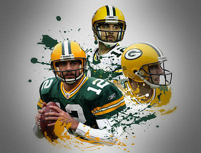 Aaron Rodgers Photograph - Aaron Rodgers Packers by Joe Hamilton