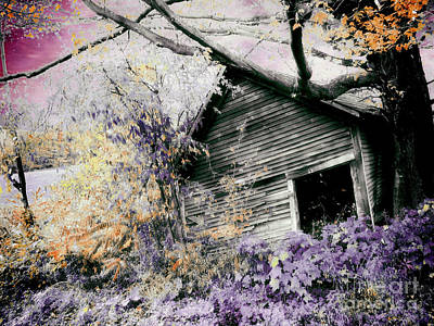 Old Barns Painting - Abandoned by Mindy Sommers