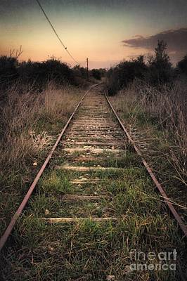 Abandoned Railway Print by Carlos Caetano