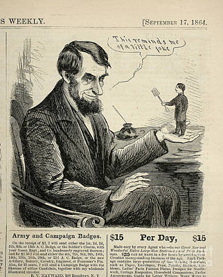 Engraving Painting - Abraham Lincoln by Celestial Images