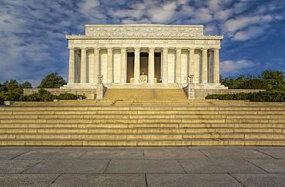 Washington Monument Photograph - Abraham Lincoln Memorial  by Susan Candelario