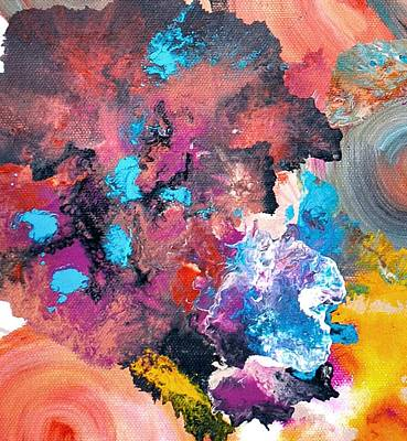 Multicolored Photograph - Abstract Acrylic Painting Picture by Sumit Mehndiratta
