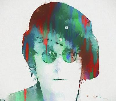 Liverpool Mixed Media - Abstract Lennon by Dan Sproul