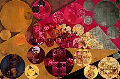 Feelings Digital Art - Abstract Painting - Antique Brass by Vitaliy Gladkiy
