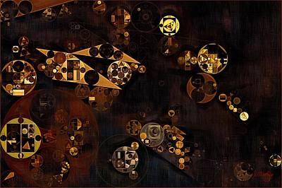 Forms Digital Art - Abstract Painting - Baker's Chocolate by Vitaliy Gladkiy